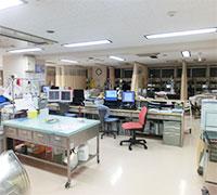 HCUのスタッフルームの風景